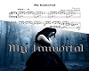 My Immortal Acoustic 2/3