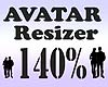 Avatar Resizer 140%