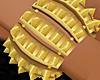 [K]Gold Spiked Bracelet