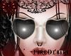 FD Heart Cream Glasses