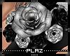 #Plaz# Shoulder Rose L