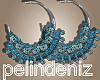 [P] Boho blue earrings