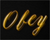 Obey Sign (gold)