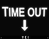 v, Time Out Sign