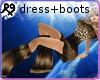 Brown Furry Dress +Boots