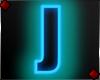 Neon Letter J
