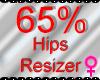 *M* Hips Resizer 65%