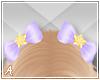 A| Purple Star Hair Bows