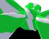Lime Bow w/White Stripz