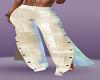 Beige open leg pants