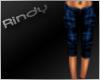 [FG]Blue plaid baggy