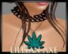 [la] Teal weed necklace