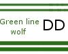 Green line Wolf hair