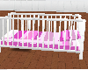 (D) PINK AND WHITE CRIB