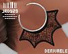 <J> Drv Widow Earrings
