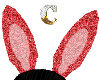 *C* red bunny ears