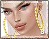 !B Hoop Earrings Gold