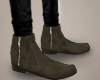 Suede boots.
