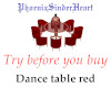 Table top dance red