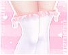 F. Ruffle Socks Peach