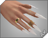 ~AK~ Nails: Gold/Pearl