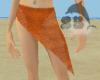 Orange V. Sarong Set