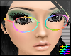 :S Rainbow Nerdy Glasses
