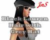 Blk Lauren Hair Grey Hat