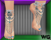 Jeweled Anklet Sky Blue