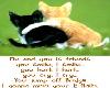 me & u is friends stickr