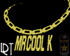 MRCOOL K GOLD NECKLACE