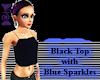 Black Top w/Blue Sparkle