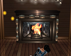 Fireplace with poses