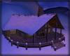 Snow Log Cabin, Twilight