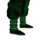 green saiyan boots