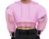 pink mesh crop top