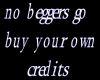no beggers