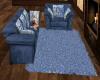 DMT Blue Fur Rug Psless