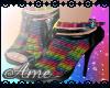 gothic rainbow heels