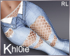 K netted jeans ripped RL
