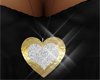 Long Necklace Gold Heart