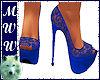 Blue Lace Wedding Heels