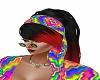hippie blk red ombre