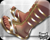 ! Greek Sandals Gold whi