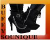 BSU Black Boots w Chains