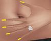 Yellow Nails w/Stars {F}