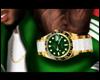 Gold/Green Wristwatch