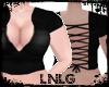 L:BBW Top- Laces Black
