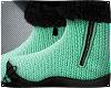 Mint Wool Fur Boots