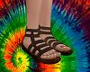 A~Hippie Sandals - Brown
